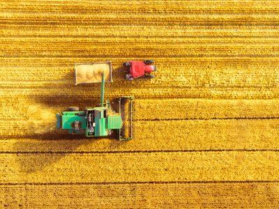 harvesting agricultural crops
