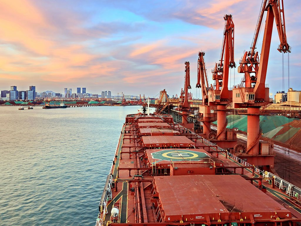 grain terminal at port in China